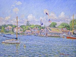 July Afternoon, Edgartown Yacht Club by Jan Pawlowski
