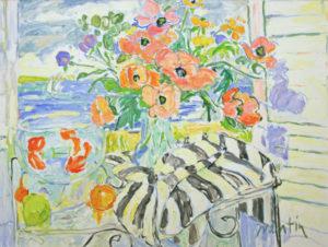 """Still Life with Goldfish & Poppies"""