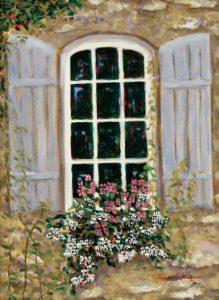 """""""Window Box, South of France"""" by Lloyd Kelly"""