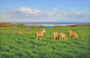Allen Farm Afternoon Sheep by Marjorie Mason