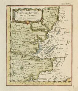 Carte des Entrees de la Tamise 1764