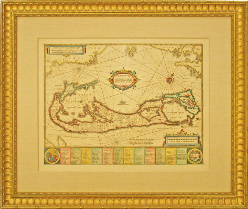 Mappa Aestivarum Insularum, Alias Barmudas Dictarum 1680