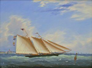 """""""Yachting Under Blue Skies"""" by William R. Davis"""