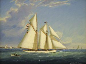 """""""Schooner Yacht Sachem"""" by William R. Davis"""